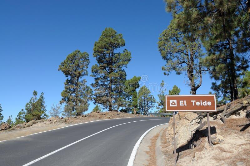 Gebirgsstraße, Tenerife stockfoto