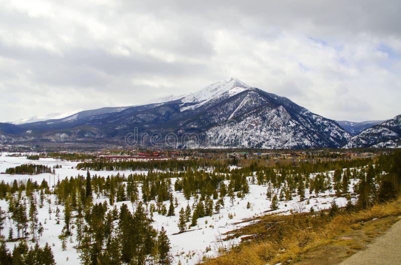 Gebirgsszene in Colorado stockbild