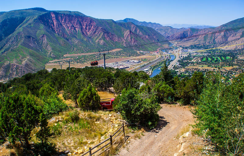 Gebirgstram-Fluss-System Glenwood Springs Colorado stockfoto