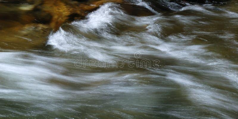 Gebirgswasserstrom mit langer Blendenverschlußdrehzahl lizenzfreie stockfotos