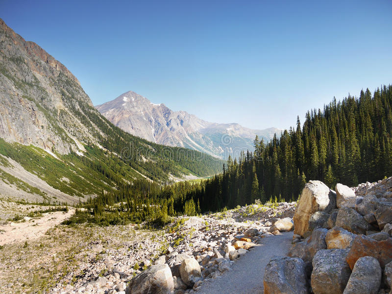 Gebirgszuglandschaft, Rocky Mountains, Kanada stockfoto