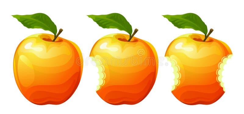 Gebissener Apfel stock abbildung