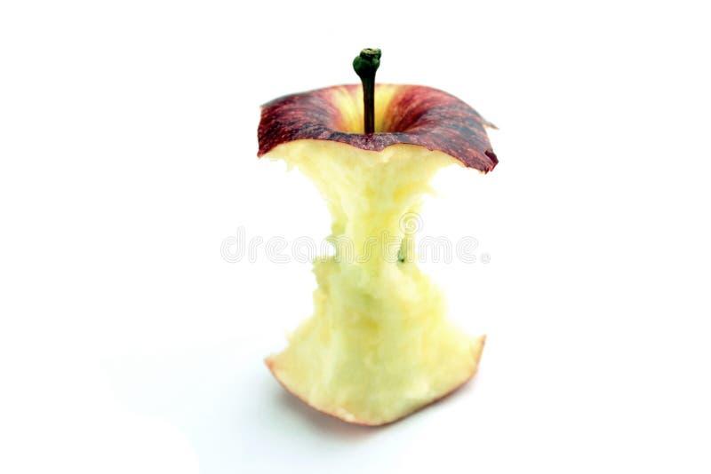 Gebissener roter Apfel lizenzfreie stockbilder