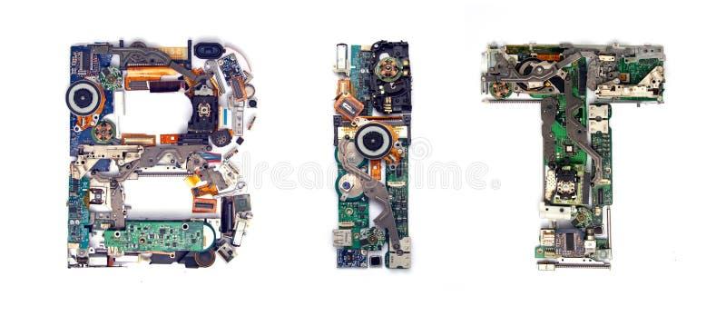 Gebissenes elektronisches lizenzfreies stockbild