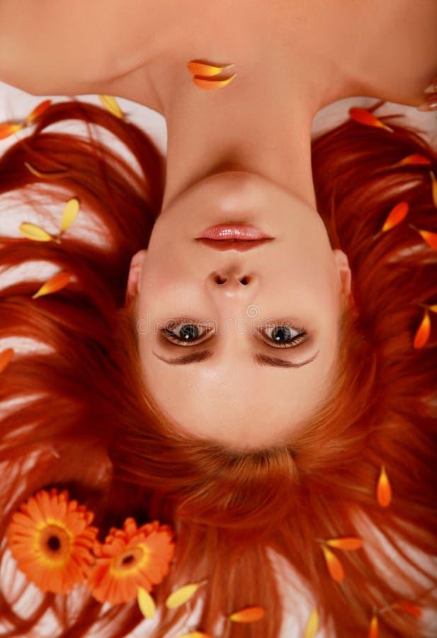 Geblühtes Haar stockfotografie