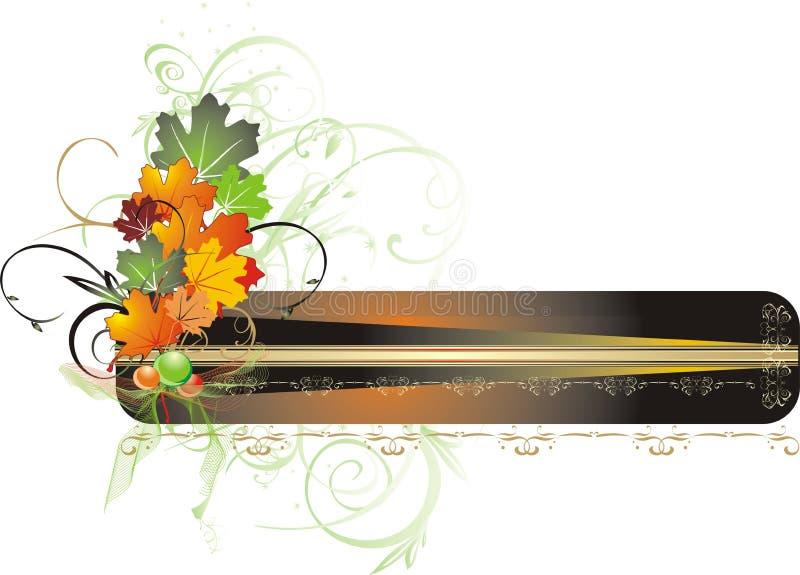 Gebladerte van esdoorn. Het decor van de herfst voor kaart vector illustratie