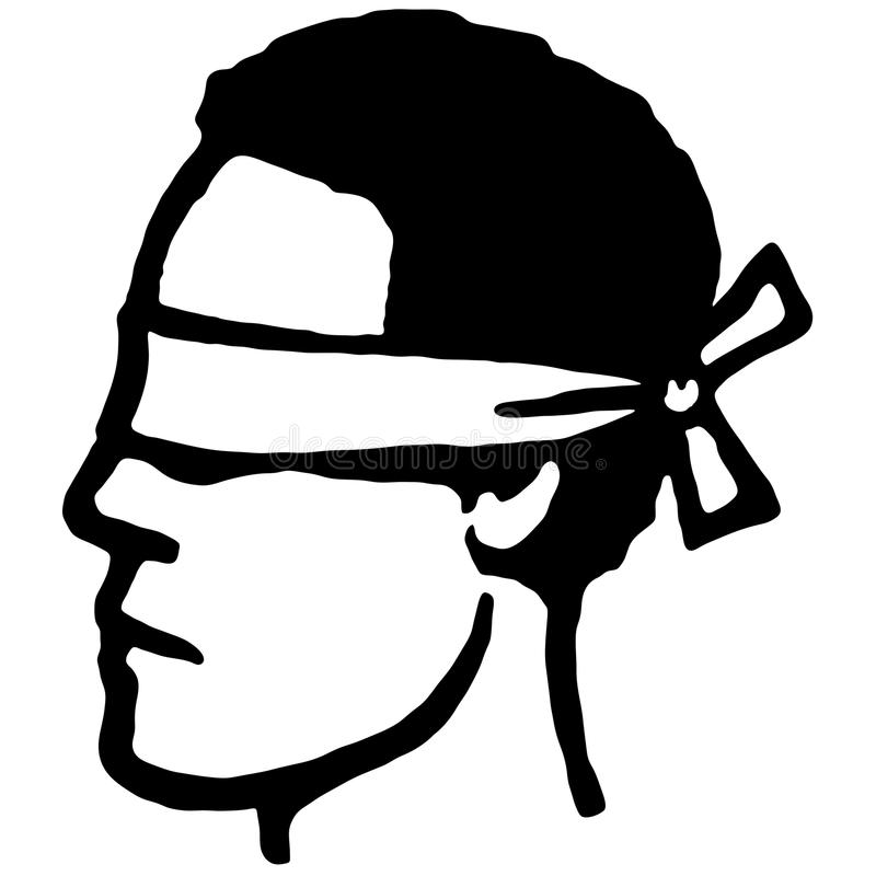 Geblinddocht (vector) stock illustratie