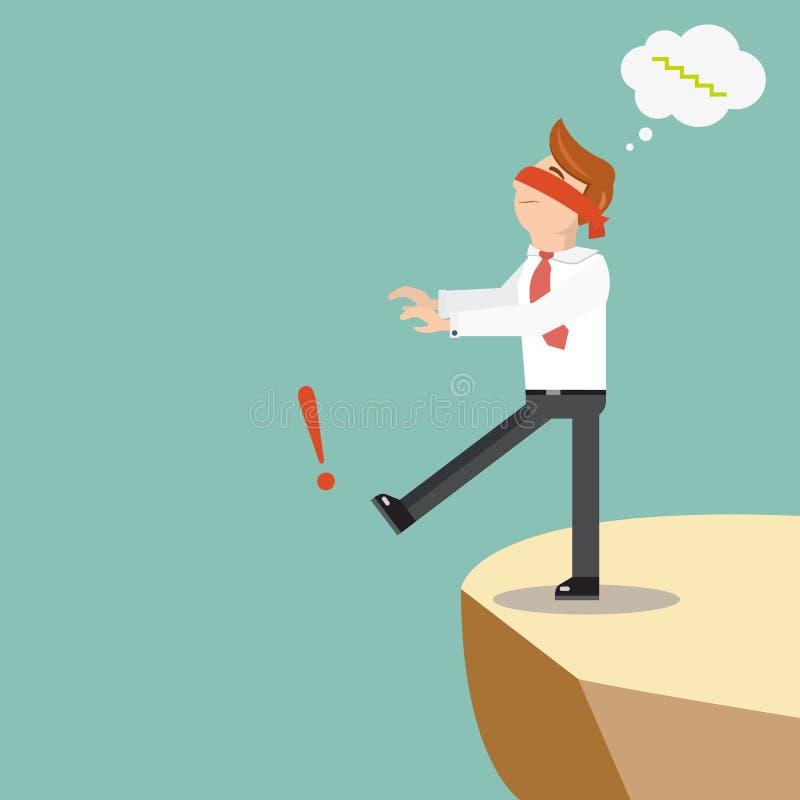 Geblinddochte zakenmangangen van de klip vector illustratie