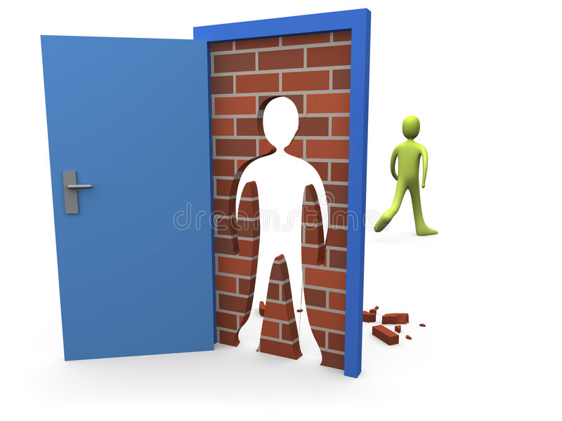 Geblockte Tür #3 vektor abbildung