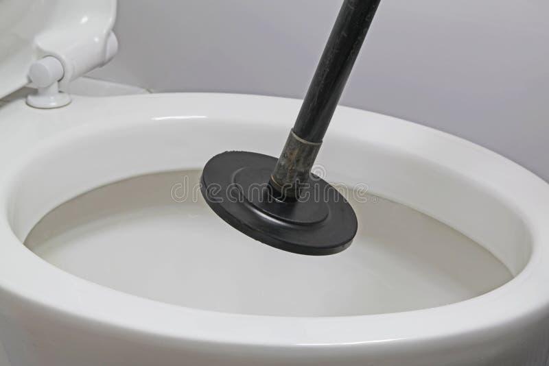 Geblokkeerd toilet royalty-vrije stock fotografie