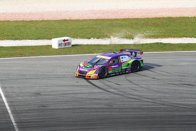 Geblokkeerde auto 31 van april, SuperGT 2010 stock foto's
