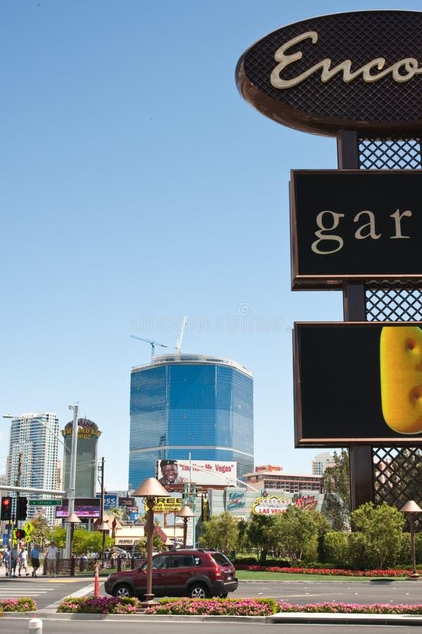Geblokkeerde bouw op de Strook, Las Vegas stock fotografie