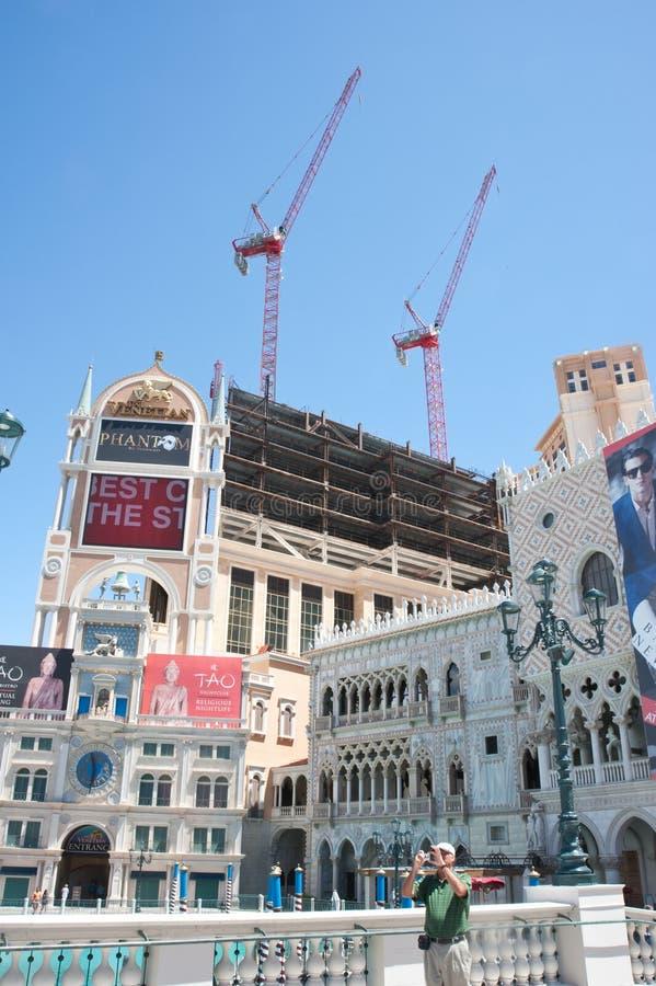 Geblokkeerde bouw op de Strook, Las Vegas stock foto