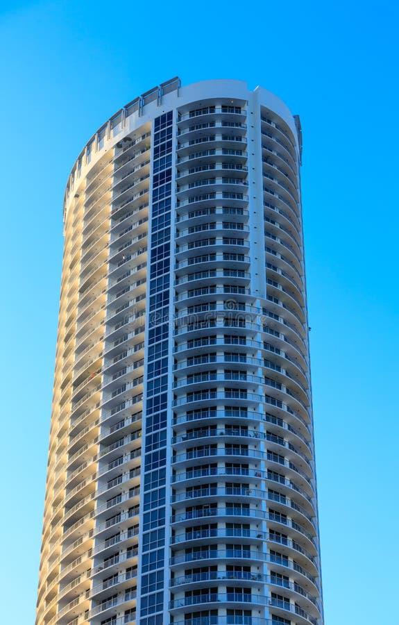 Gebogen Balkons op de Toren van Miami stock foto's