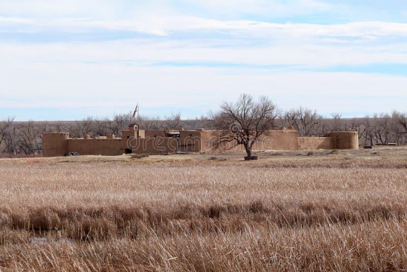 Gebogen Oude het Fort Nationale Historische Plaats van ` s royalty-vrije stock afbeelding