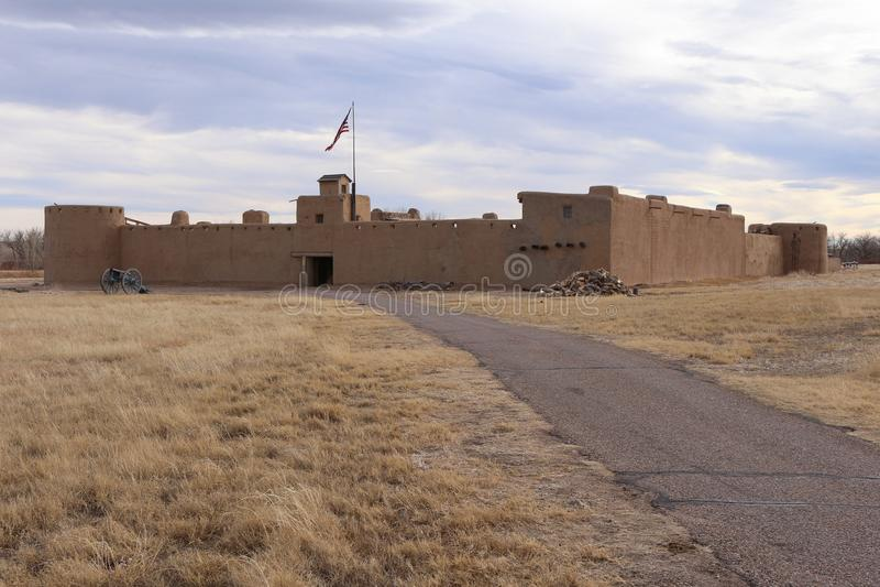 Gebogen Oude het Fort Nationale Historische Plaats van ` s royalty-vrije stock foto