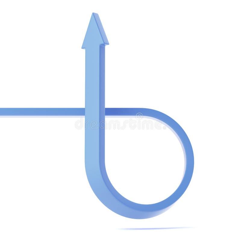 Gebogen pijl vector illustratie