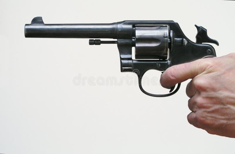 Gebogen Revolver Stock Foto