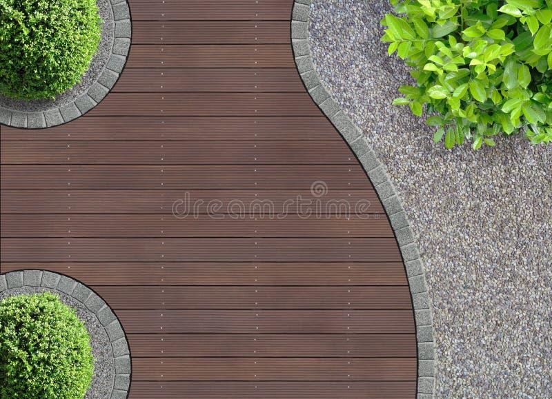 Gebogen tuindetail royalty-vrije stock afbeelding