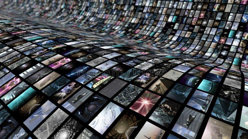 Gebogen videomuur vector illustratie