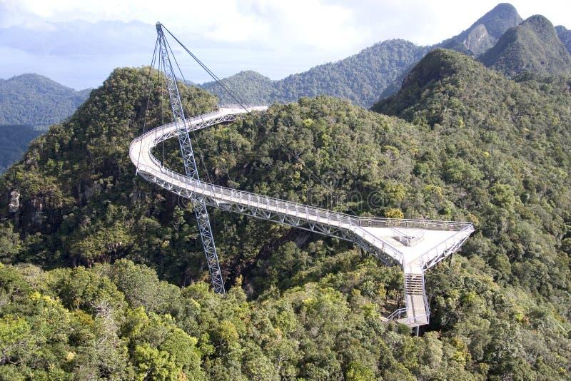 Gebogene Aufhebung-Brücke stockfotografie