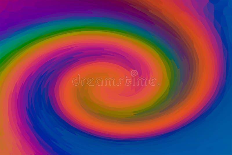 Gebogene Orange streift Kontrast-Entwurfskunst des rosa Pfirsichbeschaffenheitssegeltuchbewegungswellenstrudels helle lizenzfreie abbildung