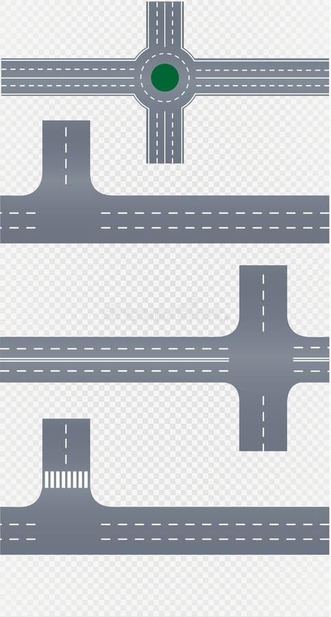 Gebogene Straße mit weißen Markierungen Auch im corel abgehobenen Betrag stock abbildung