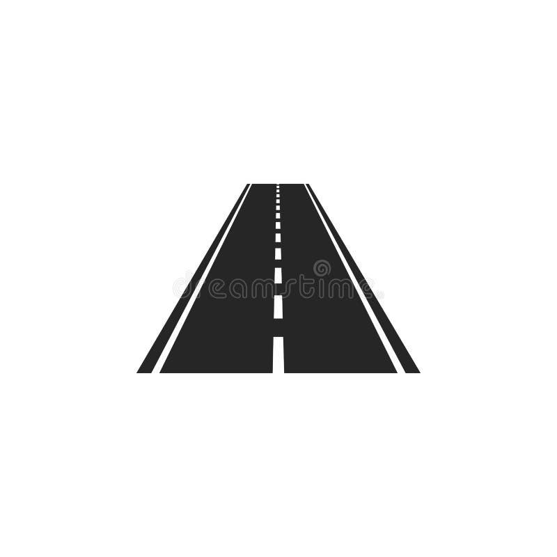 Gebogene Straße mit weißen Markierungen Auch im corel abgehobenen Betrag lizenzfreie abbildung