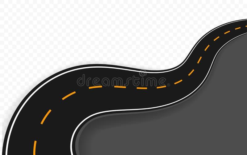 Gebogene Straße mit Markierungen Auch im corel abgehobenen Betrag lizenzfreie abbildung