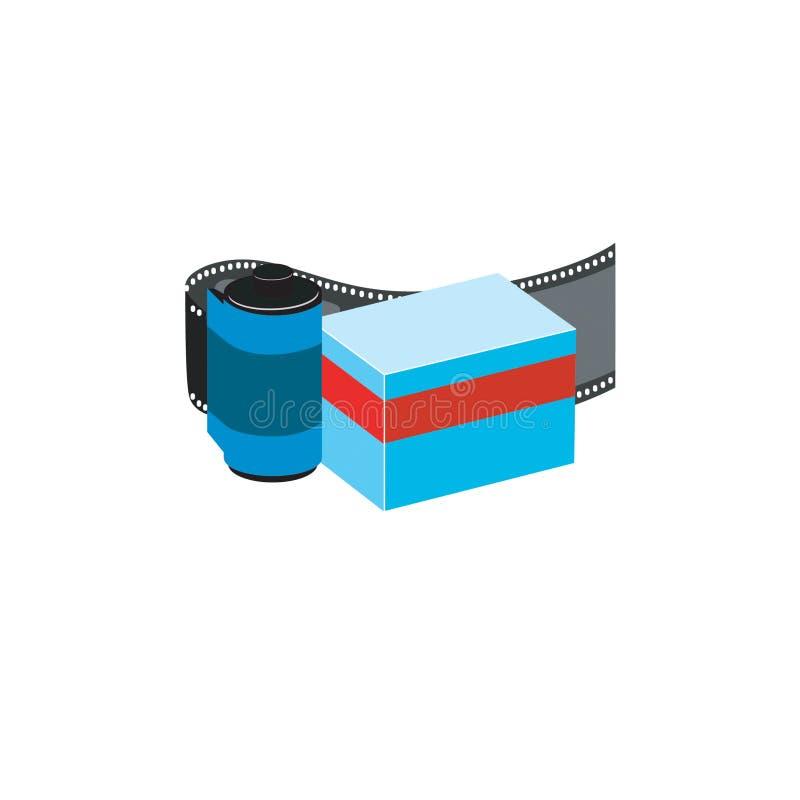 Gebogener filmstrip Vektor. lizenzfreie abbildung
