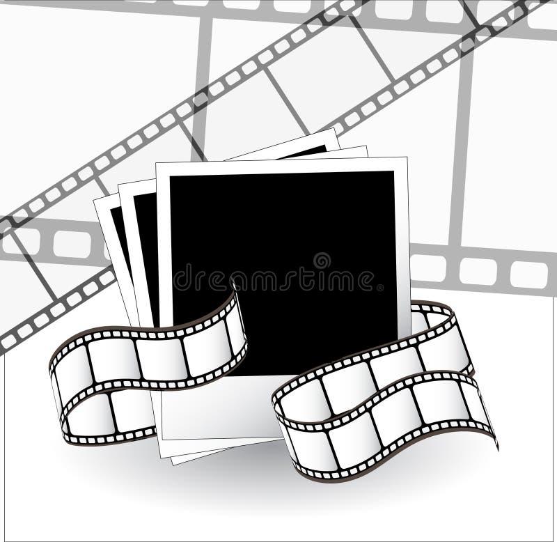 Gebogener fotographischer Film vektor abbildung