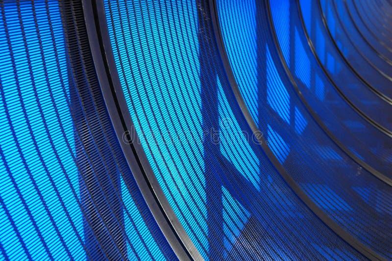 Gebogenes Blau Stockfotografie