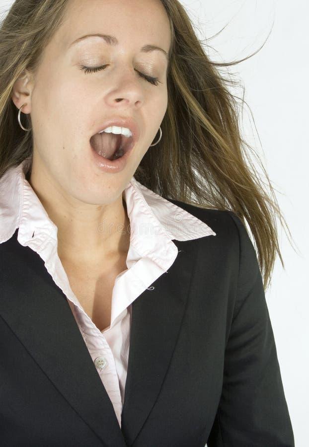 Gebohrt/bei der Arbeit ermüdet? lizenzfreie stockfotografie