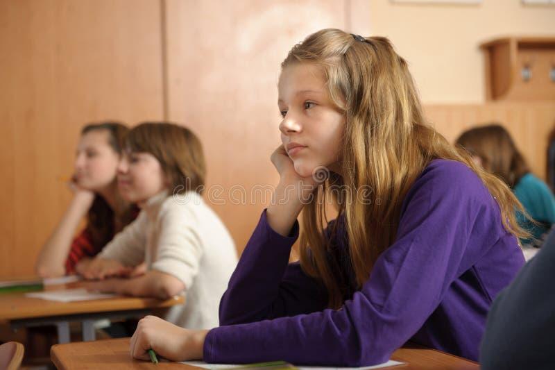 Gebohrtes Schulmädchen stockfotografie