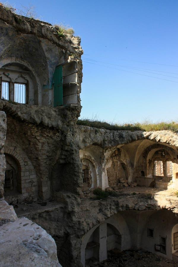 Gebombardeerd Huis op Palestijns Grondgebied stock afbeeldingen