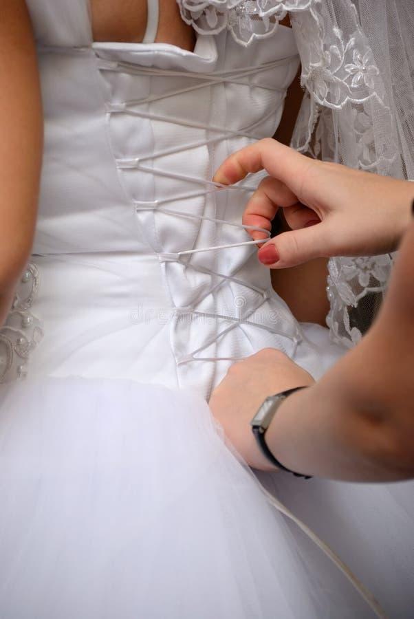 Gebonden bruid stock foto