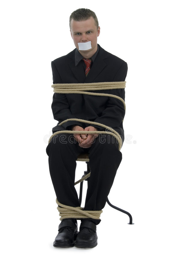 Gebonden zakenman stock foto's