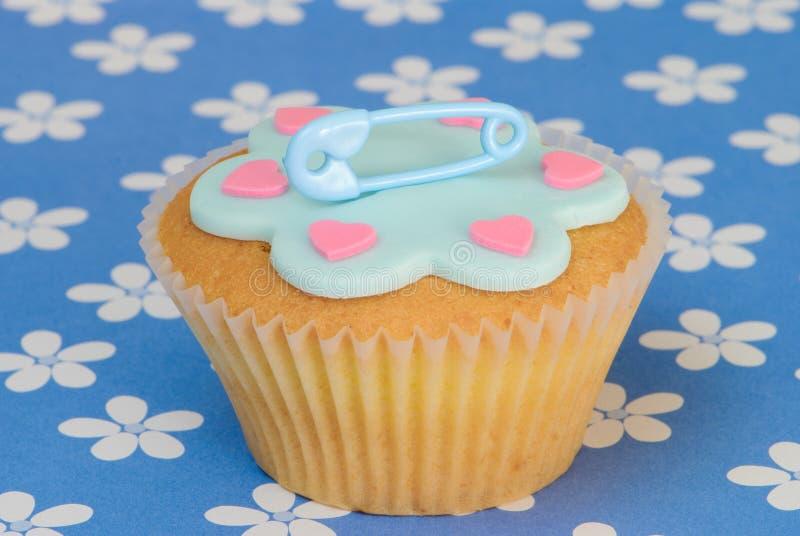 Geboorte van een Cake van de Jongen stock afbeelding