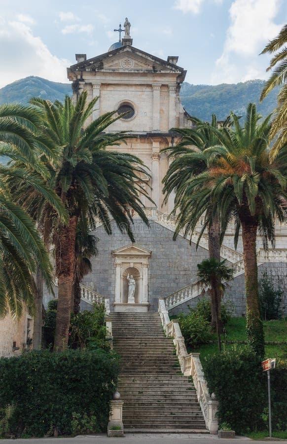 Geboorte van Onze Damekerk montenegro stock afbeeldingen
