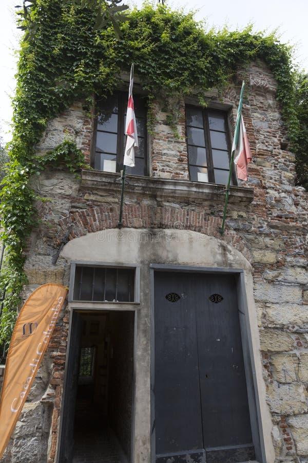 Geboorteplaats van Christopher Columbus Genoa Italy royalty-vrije stock foto