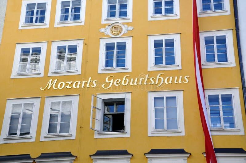 Geboorteplaats van Mozart in Salzburg, Oostenrijk royalty-vrije stock fotografie