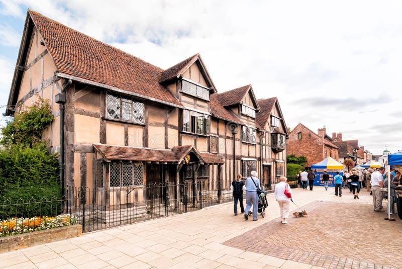 Geboorteplaats van William Shakespeare stock foto