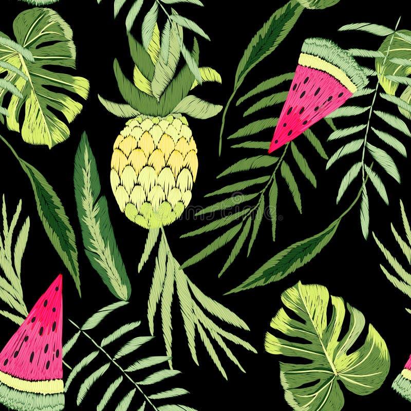 Geborduurde tropisch vector illustratie