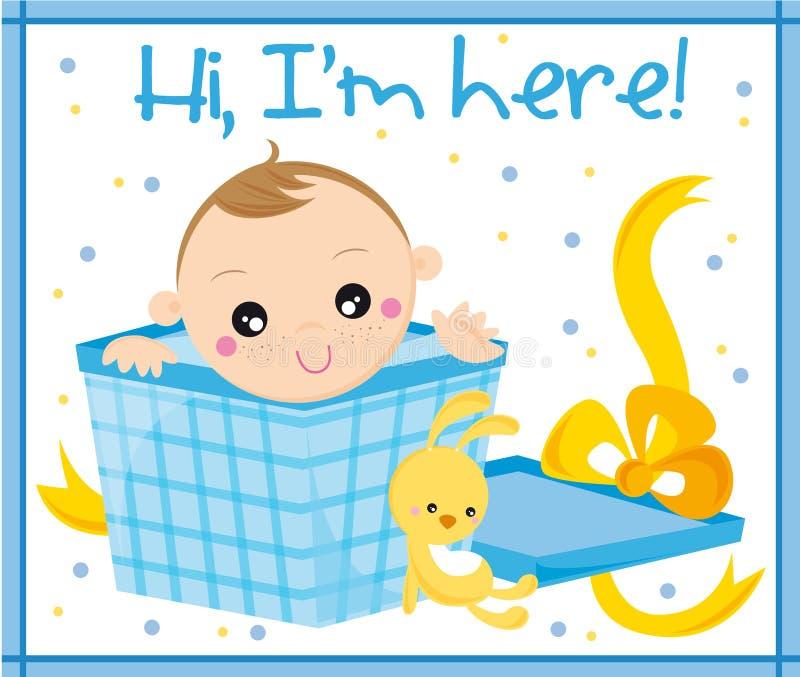 Geboren baby vector illustratie