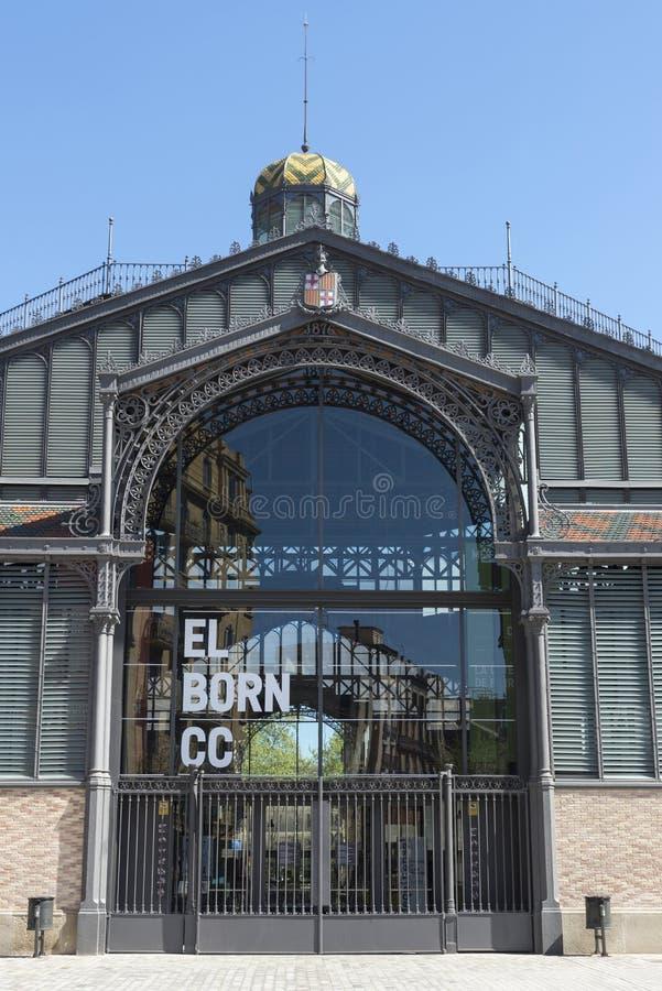 Geboren marktvoorgevel, Barcelona stock afbeelding