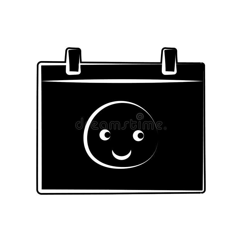 geborene Kalenderikone des Babys Element der Mutterschaft für bewegliches Konzept und Netz Appsikone Glyph, flache Ikone für Webs stock abbildung