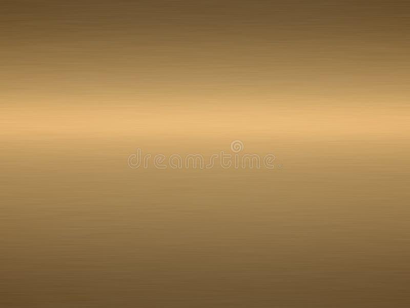 Geborsteld brons stock illustratie