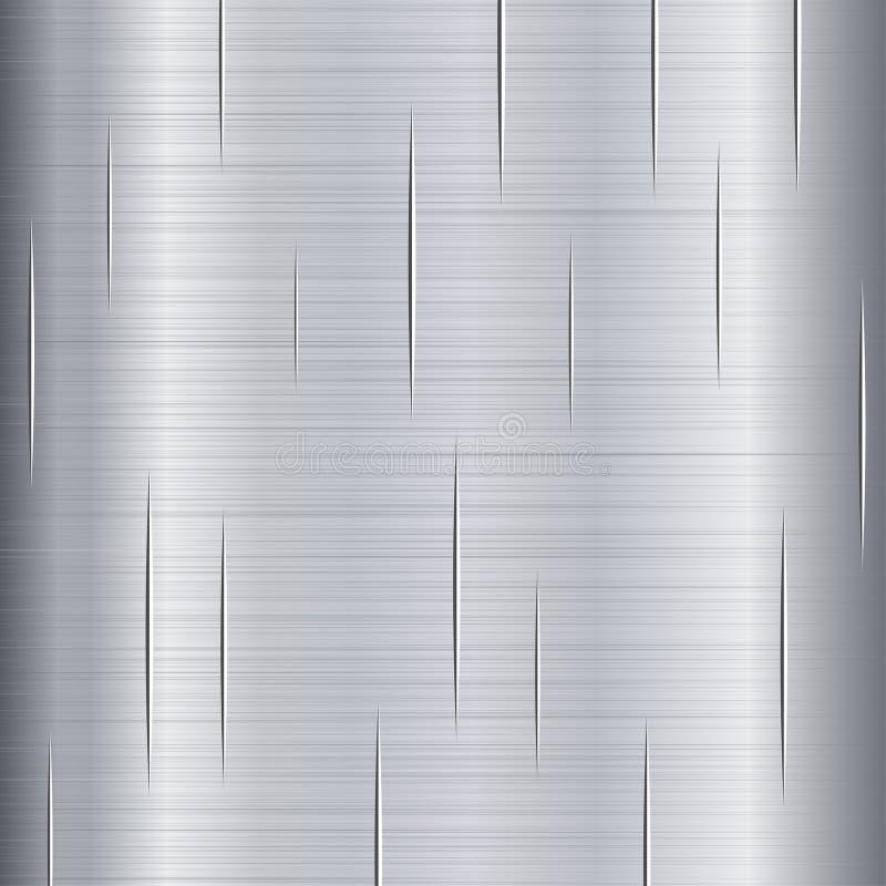 Geborsteld Metaal met Krassen stock illustratie