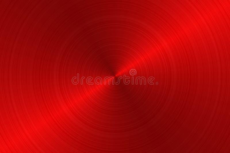 Geborsteld metaal - Rood royalty-vrije illustratie