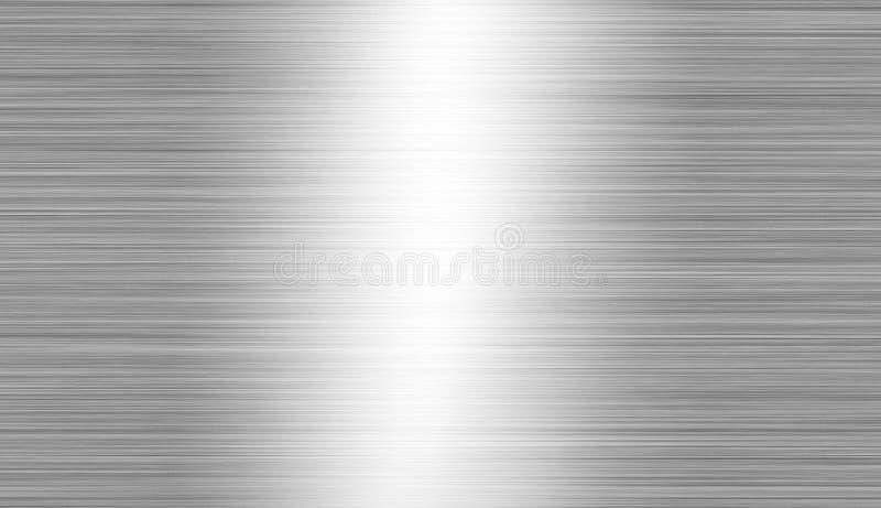 Geborsteld metaal: staal of aluminiumtextuurachtergrond stock foto